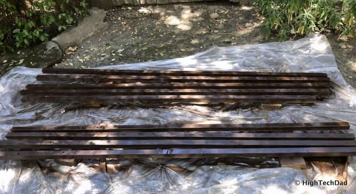 HTD DIY Deck Lighting Post - painted posts
