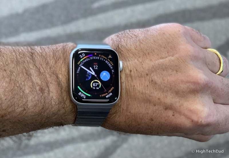 HighTechDad Apple Watch Series 4 - on wrist