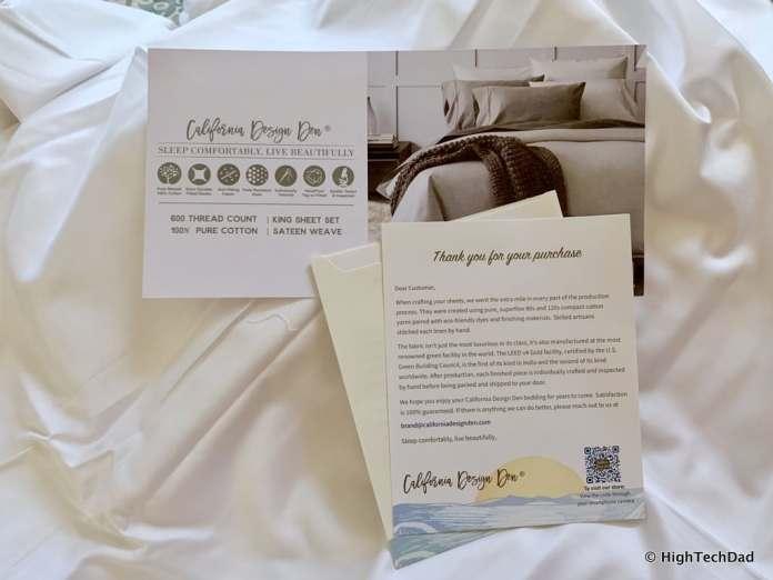 HighTechDad Sleep Tips & California Design Den Sheets - sheets