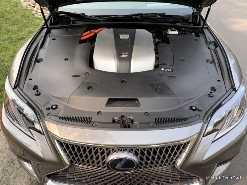HighTechDad 2019 Lexus LS-500h review - hybrid engine
