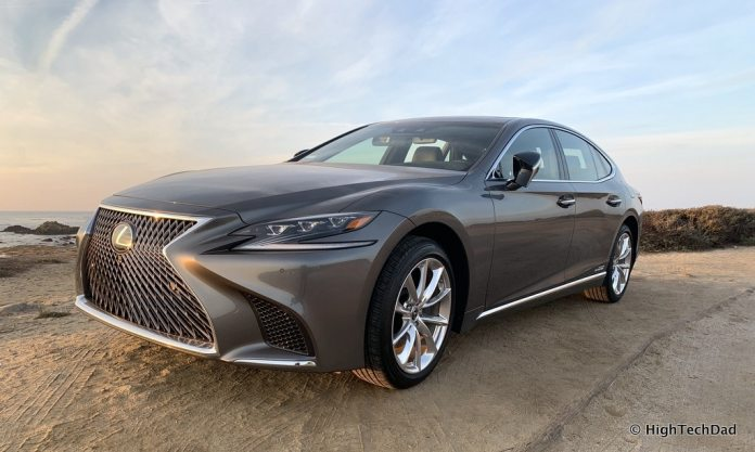 HighTechDad 2019 Lexus LS-500h review - at the beach