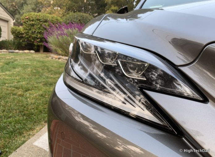 HighTechDad 2019 Lexus LS-500h review - front headlights
