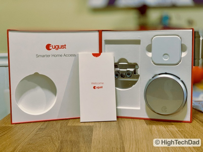 HighTechDad Review August Smart Lock Pro - boxed