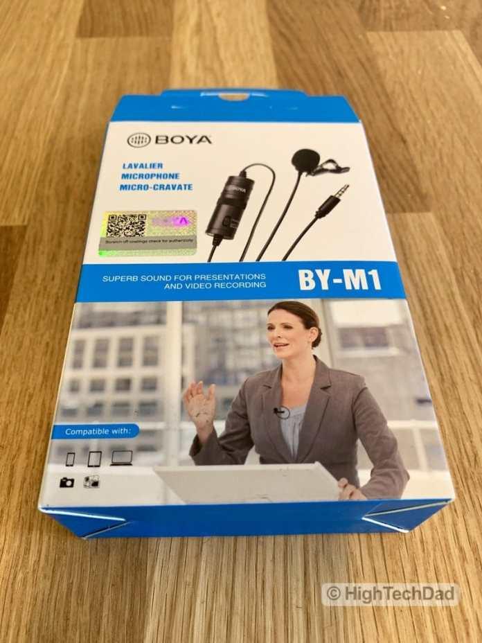HighTechDad reviews BOYA BY-M1 lavalier mic - box