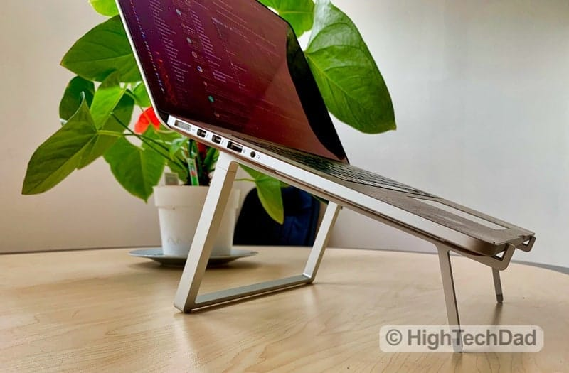 HighTechDad Reviews Rain Design mBar Pro, mBar Pro+, & mStand - side view of mBar Pro+