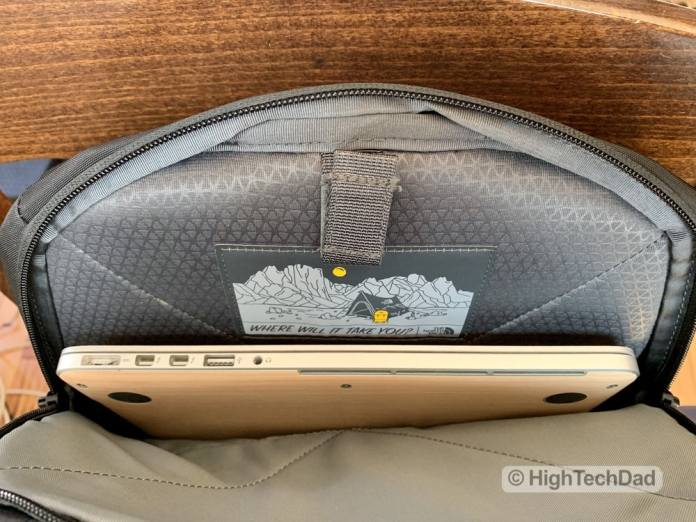 HighTechDad Backpacks.com The North Face Borealis backpack review - laptop compartment
