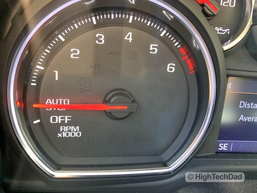 HighTechDad Review 2019 Chevy Silverado - auto stop