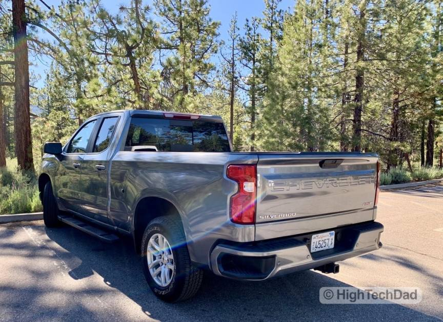 HighTechDad Review 2019 Chevy Silverado - side back view