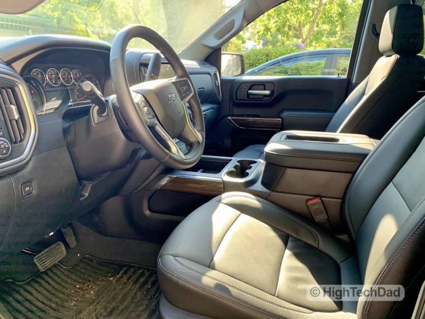 HighTechDad Review 2019 Chevy Silverado - front seats