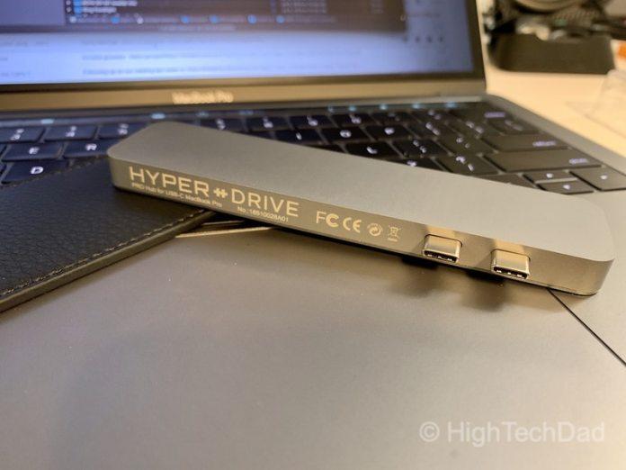 HighTechDad review of HyperDrive PRO 8-in-2 USB Type-C hub - unplugged