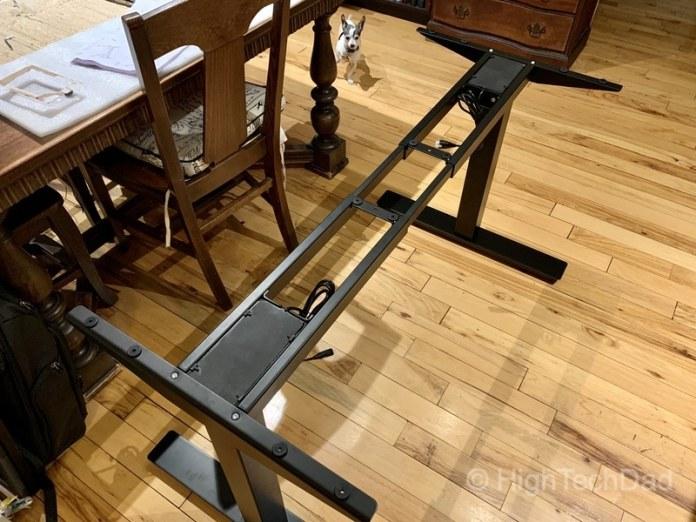 HighTechDad review of Autonomous Smart Desk 2 sit-stand desk - bottom frame assembled