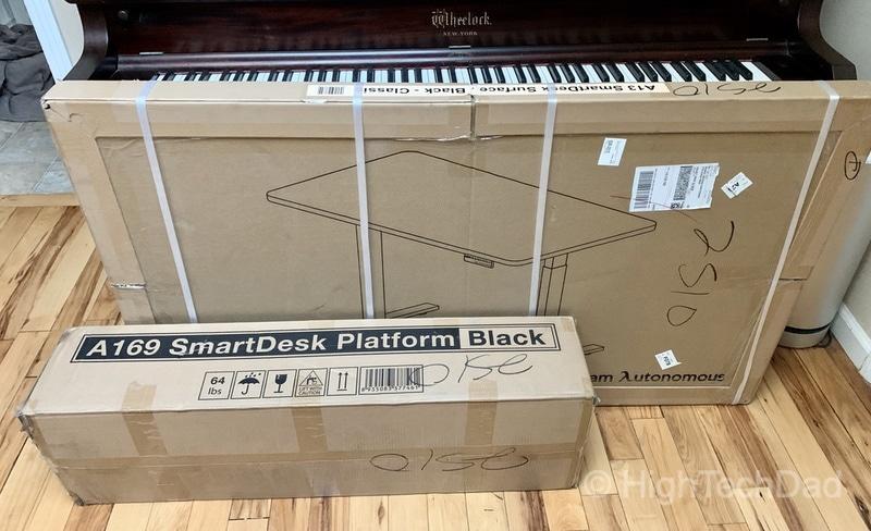 HighTechDad review of Autonomous Smart Desk 2 sit-stand desk - two boxes