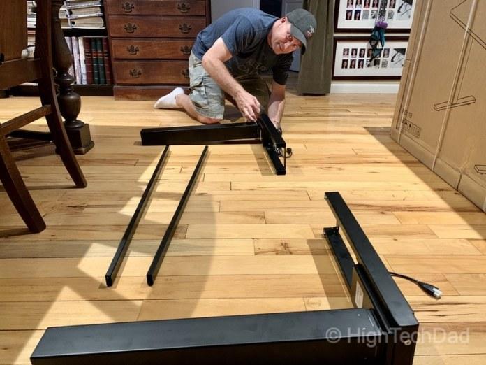 HighTechDad review of Autonomous Smart Desk 2 sit-stand desk - putting the desk together