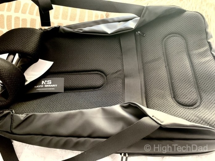 HighTechDad Reviews Nayo Almighty backpack - padded back