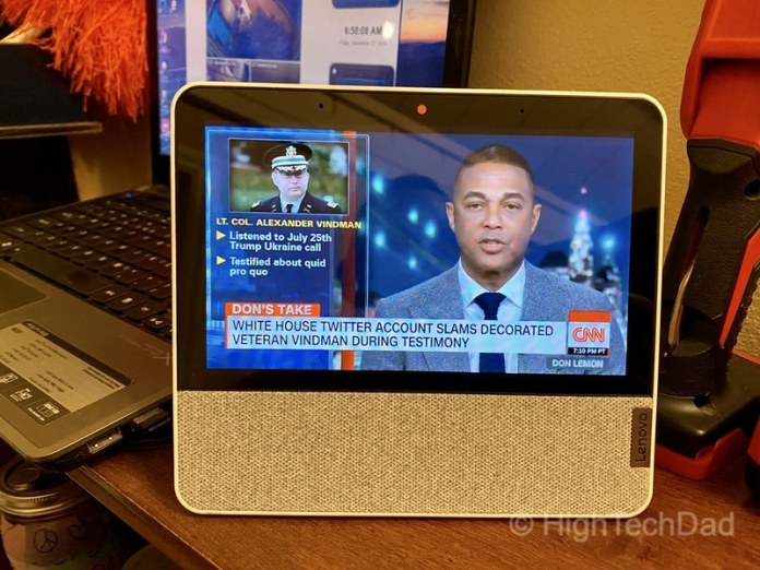 HighTechDad review: Lenovo Smart Display 7 - casting CNN