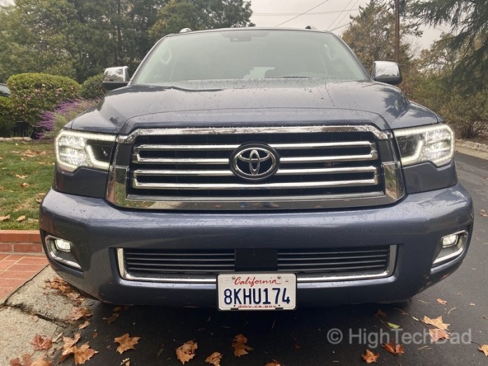 HighTechDad, Toyota Season of Giving & the 2019 Toyota Sequoia - front view