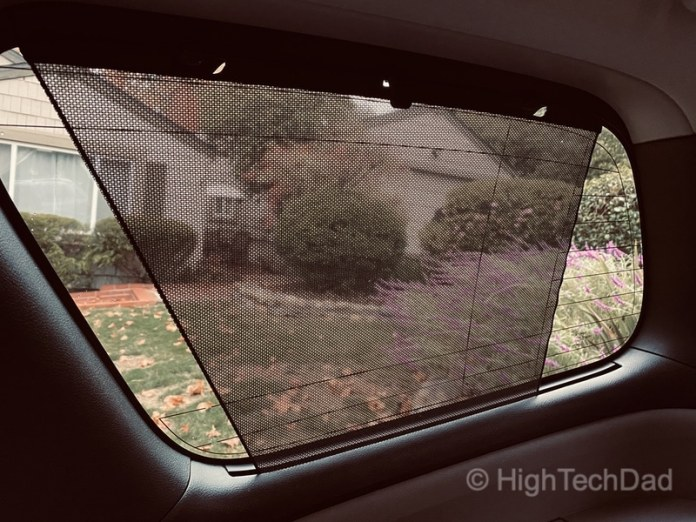 HighTechDad, Toyota Season of Giving & the 2019 Toyota Sequoia - rear shades