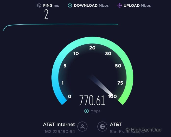 HighTechDad Tech Tip - look for fast download speeds with broadband