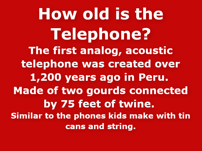 How old is the telephone?