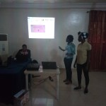 Girls making Project Presentation