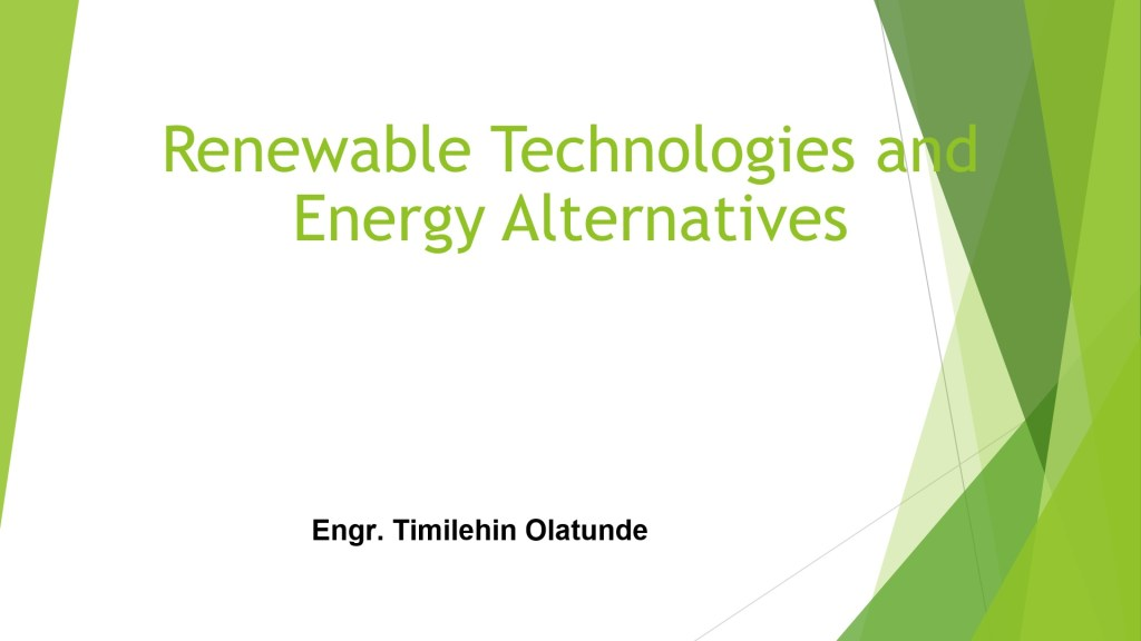 Renewable Technology