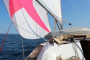 HighTide.cc Dufour 350 Kroatien Segeltörn downwind