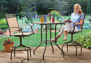 Discover The Best Outdoor Bar Height Table and Chairs Sets   High     CASTLECREEK Bar height Patio Furniture Set