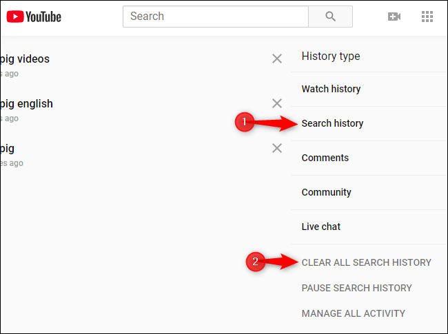 How to Delete YouTube Watch History and Search History