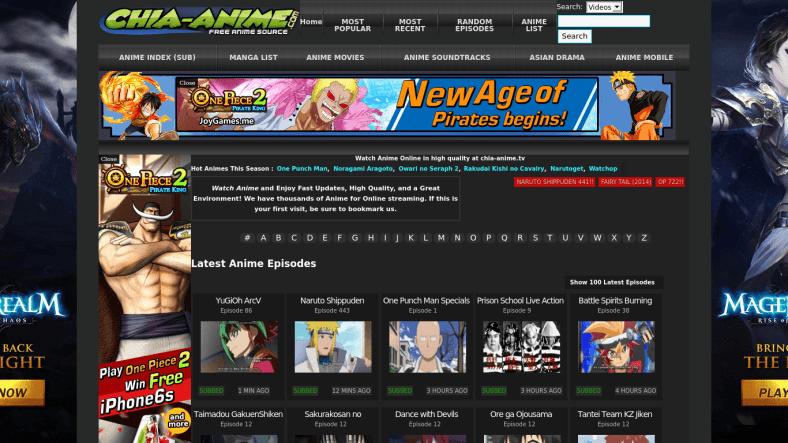 10 Best Chia Anime Alternatives Websites