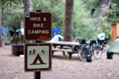 Most of the California State Park along the routes offer cheap accommodation for hikers and bikers.