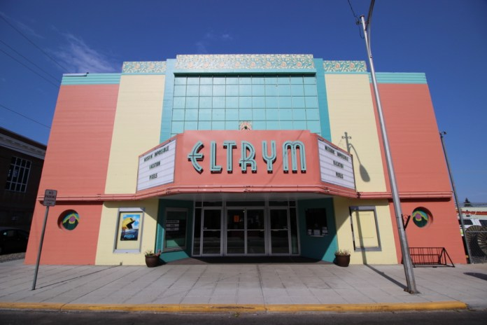 Originally opened in 1940, the Eltrym Theatre in Baker City, OR.
