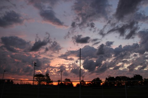 Dramatic sunrise in Clinton, MO