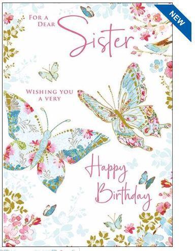 Sister Beautiful Butterflies Birthday Card By Nigel Quiney Highworth Emporium