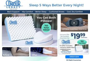 legacy knee pillow as seen on tv online