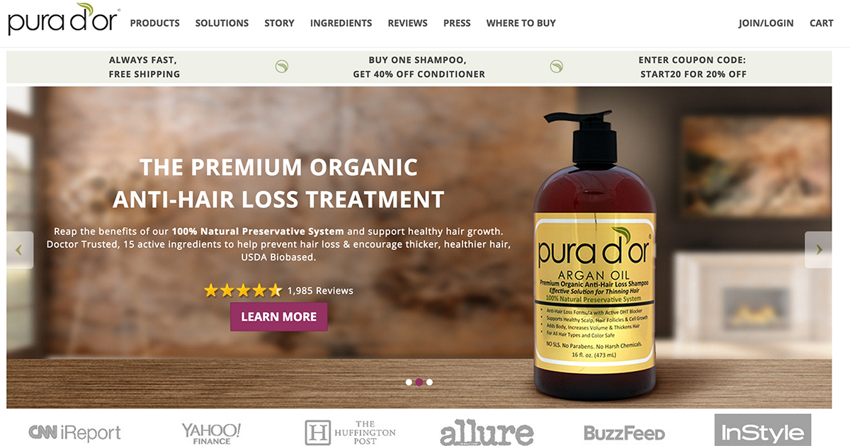 Website Skin Care Products