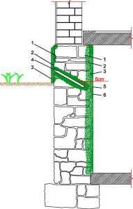 Przepona pozioma wykonana metodą iniekcji ciśnieniowej