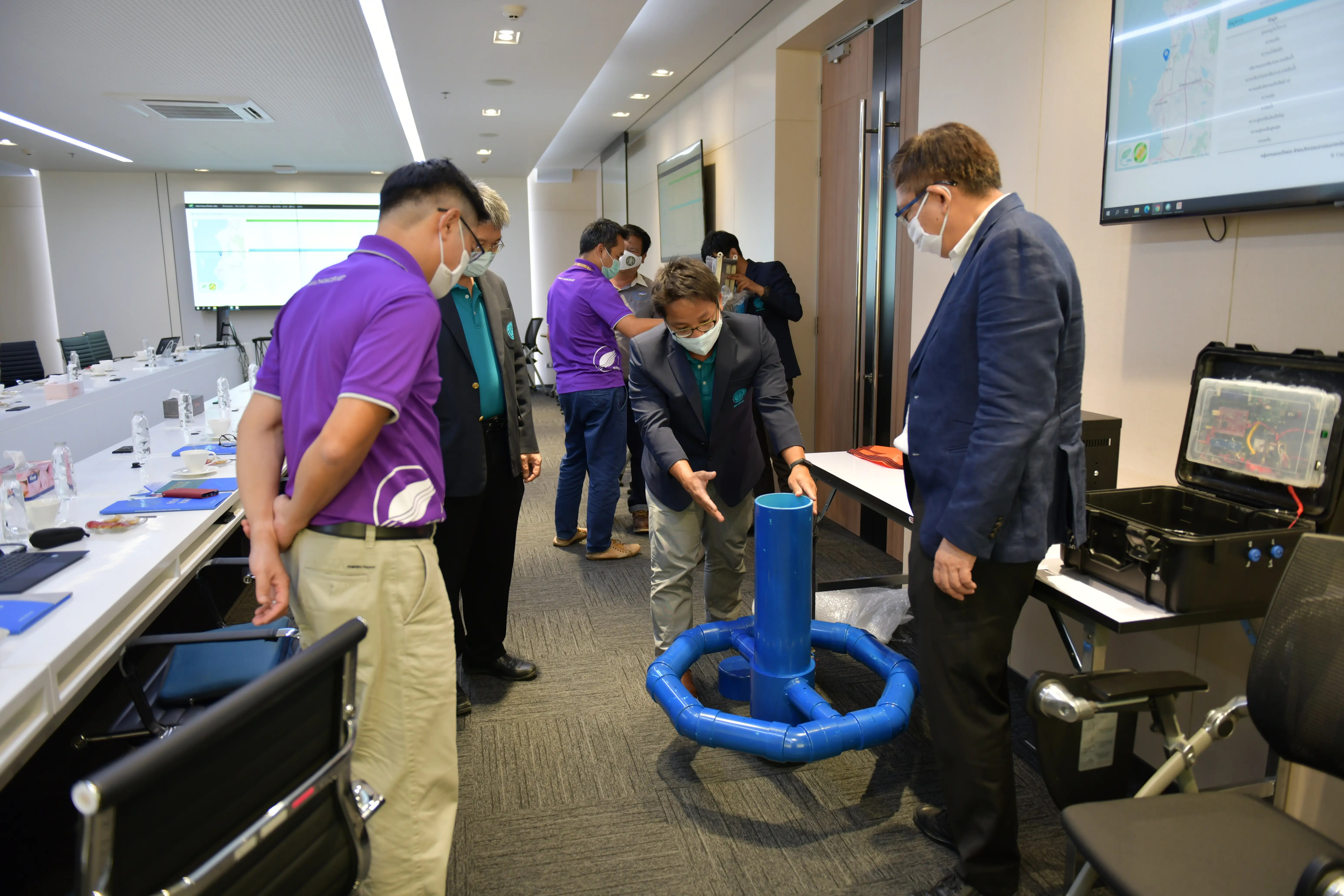 HII discusses with KU to develop the Ocean Forecast Modeling and Early Warning System for the Gulf of Thailand