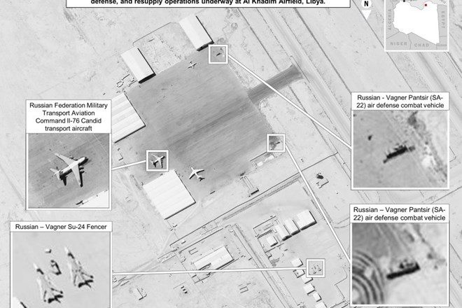 The latest imagery details the extent of equipment being supplied to Wagner. Russian military cargo aircraft, including IL-76s, continue to supply Wagner fighters. Russian air defense equipment, including SA-22s, are present in Libya and operated by Russia, the Wagner Group, or their proxies. U.S. Africa Command photo.