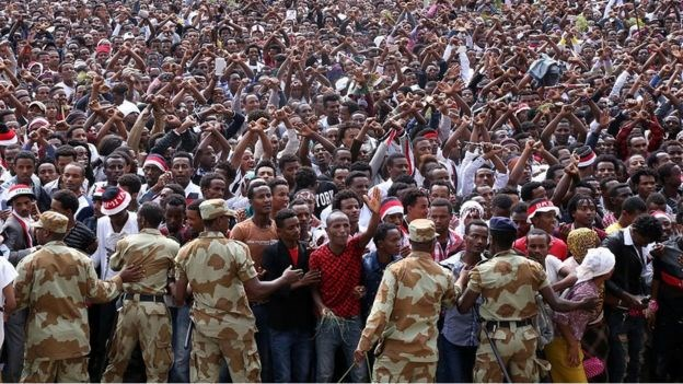 Oromos have long felt politically and economically marginalised in Ethiopia.GETTY IMAGES