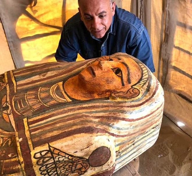 Some of the coffins were decorated with colourful ornate patterns.EGYPTIAN MINISTRY OF TOURISM AND ANTIQUITIES