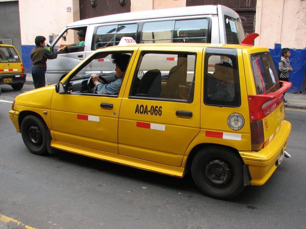 Peru Itinerary: Peru Taxi