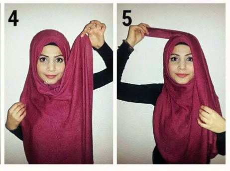 how to wrap a hijab arabian style