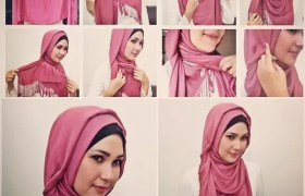 new hijab style simple
