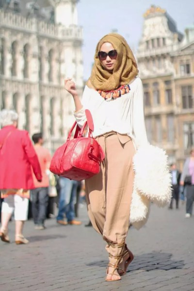 spring hijab fashion style ideas 2016
