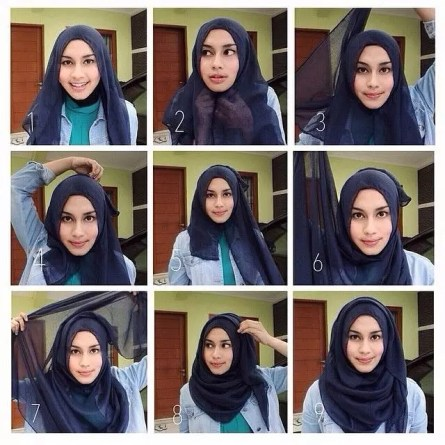 Simple Hijab Tutorial for School