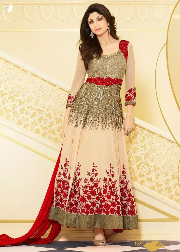 Latest Anarkali Frocks Design Gown/Floor Length 2017 2018 Model Suits