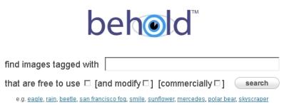 Buscador de imagenes de uso libre Behold