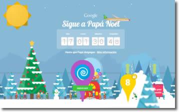 Sigue a Papá Noel en Google