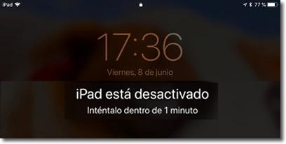 Borra tu iPhone o iPad al décimo intento de desbloqueo fallido