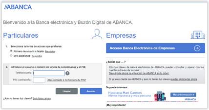 Correo tipo phishing suplantando a Abanca con intento de engaño